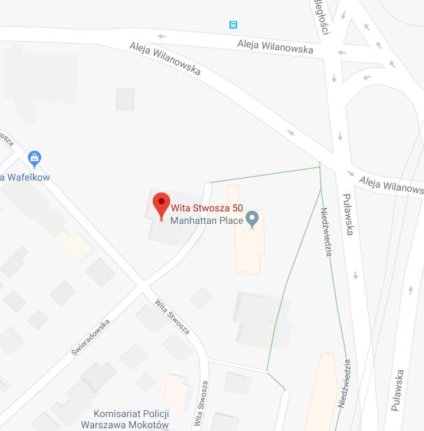 Mapa Gabinet Hipnozy i Hipnoterapii w Warszawie